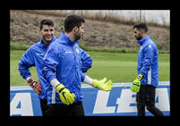 Entrenamiento del Alavés previo al partido frente al Celta de Vigo