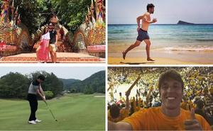 Finales de NBA, elefantes en Tailandia, golf... Los jugadores del Alavés disfrutan de sus vacaciones