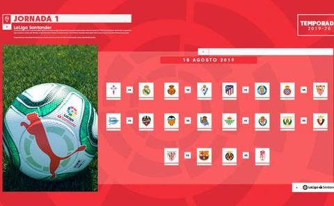 Calendario del Alavés en la Liga 2019 - 2020