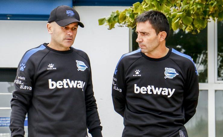 El Alavés se entrena en Ibaia antes de viajar a Valencia