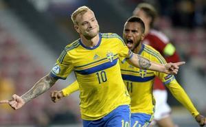 Guidetti, ante una nueva opción de participar con Suecia