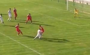 El golazo de Borja Sainz redondea la victoria de la selección sub'19