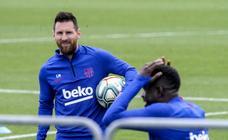El Barcelona se entrena en Ibaia