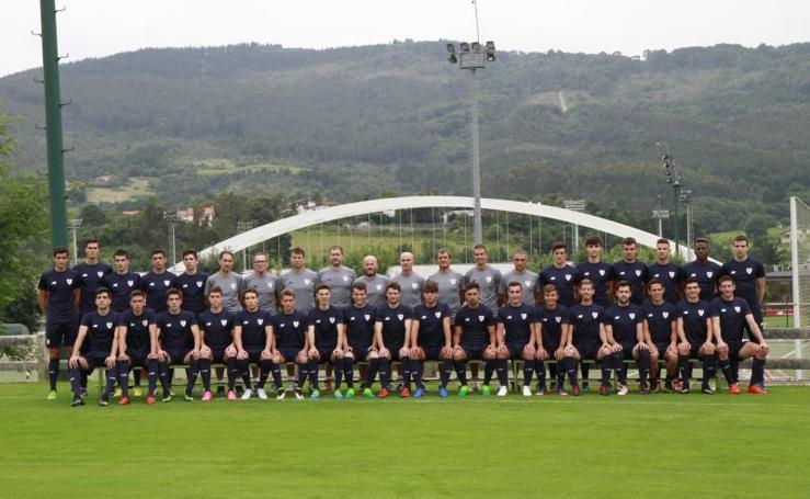 Las imágenes del primer entrenamiento de Garitano al frente del Bilbao Athletic