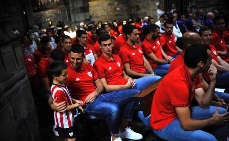 Visita del Athletic a la basílica de Begoña