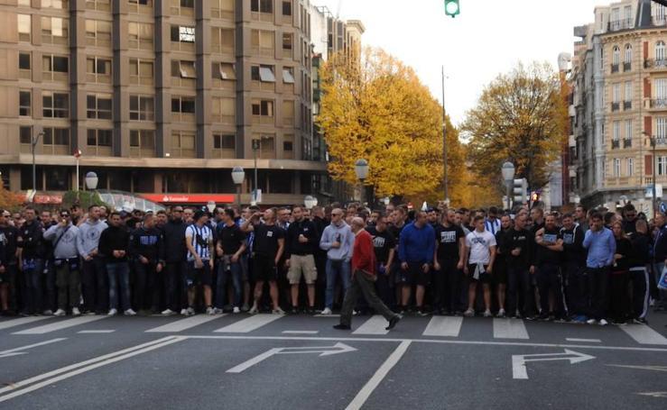 Los aficionados del Hertha ya están en San Mamés