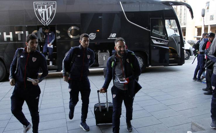 El Athletic ya está en La Coruña
