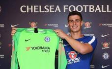 Kepa ya viste la camiseta del Chelsea