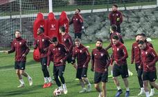 Vicente, convocado para la Copa tras entrenar con el primer equipo