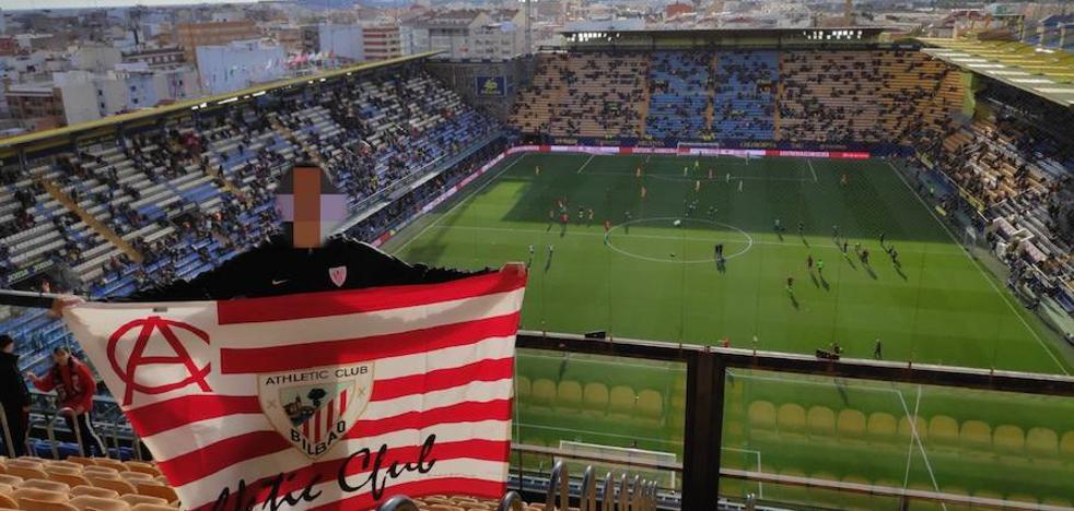 La Policía confundió la bandera del Athletic con una anarquista