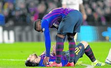 Messi no entrena y pone en duda su presencia en Bilbao
