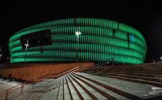 San Mamés se tiñe de verde para celebrar San Patricio