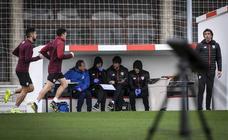 Entrenamiento muy físico para la plantilla del Athletic en Lezama