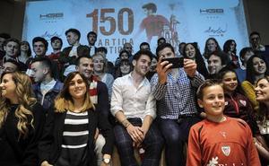 Ibai Gómez invita a 150 hinchas a una cena del Paleolítico