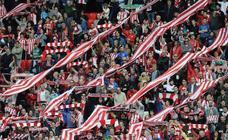 Ambiente del partido entre en Athletic - Rayo en San Mamés