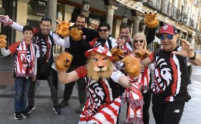 Los hinchas del Athletic toman Valladolid