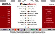La Liga modifica el horario de la última jornada: la retrasa a las ocho
