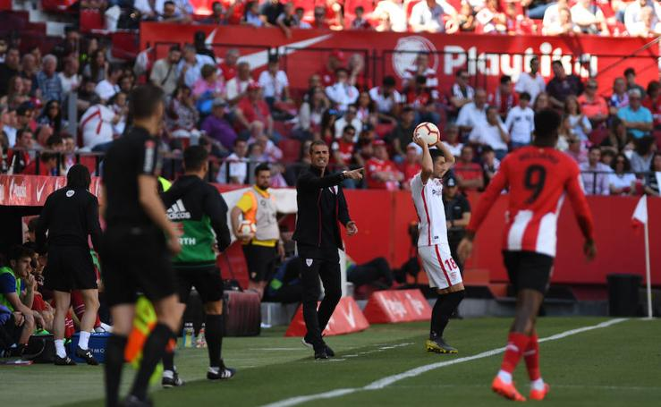 Las imágenes del encuentro entre elSevilla y el Athletic