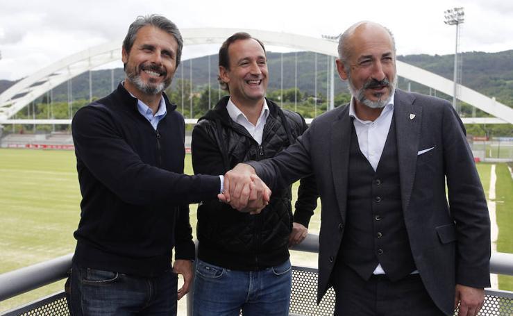 Presentación de Joseba Etxeberria como entrenador del Bilbao Athletic