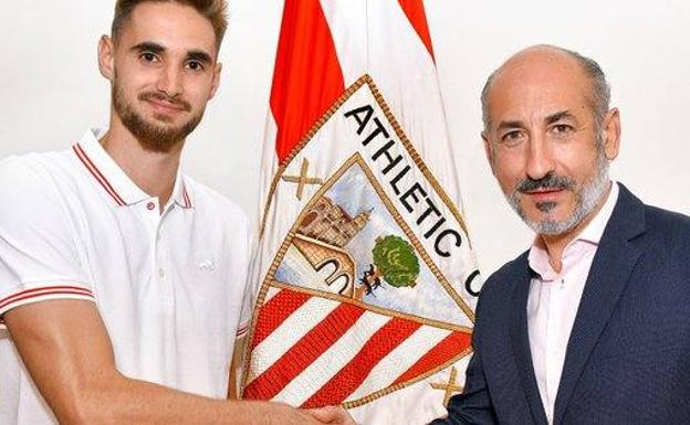 El guardameta Ezkieta ha firmado con el Athletic Club hasta junio de 2023. /Athletic Club