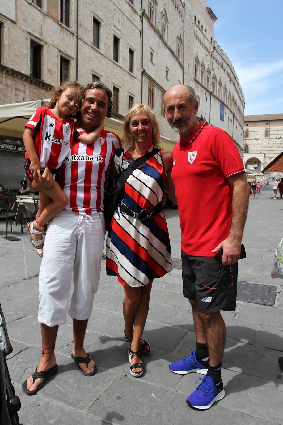 Simpatizantes del Athletic en Perugia