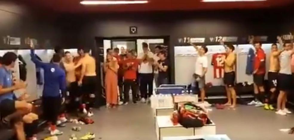 Así recibió el vestuario del Athletic a Aduriz