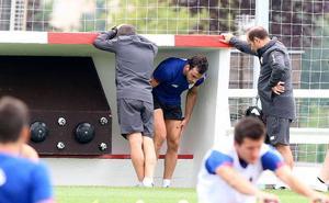 Iñigo Lekue regresa al grupo mes y medio después de su lesión