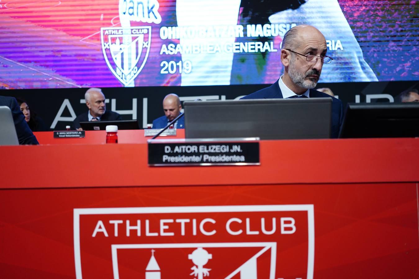 Primera asamblea de socios compromisarios de Elizegi como presidente del Athletic
