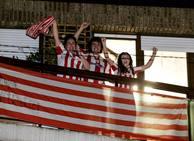 La celebración de la Supercopa desde los balcones de Bizkaia