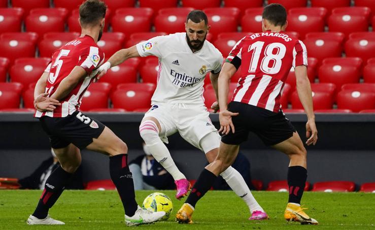 Las mejores imágenes entre el Athletic y el Real Madrid