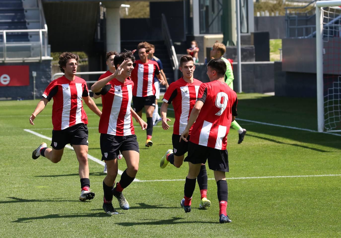 El Athletic juvenil golea a Osasuna y luchará por la Copa de campeones