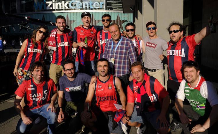 El ambiente de la final de la Liga ACB en el Wizink Center madrileño