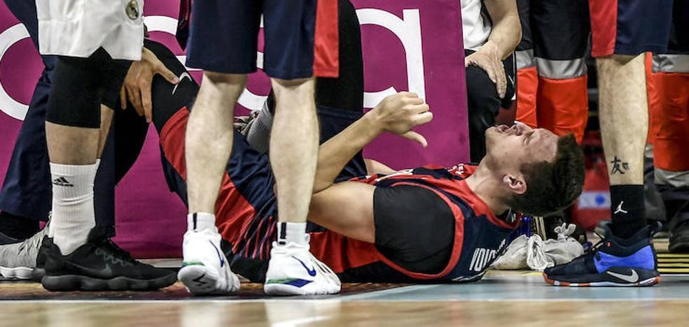 Voigtmann se retira del partido con molestias en el tobillo