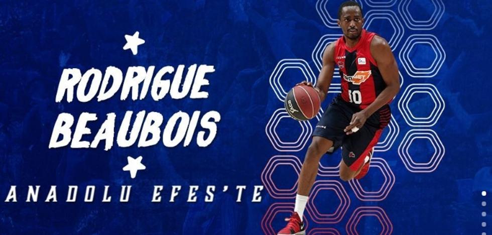 El Anadolu Efes anuncia el fichaje de Rodrigue Beaubois