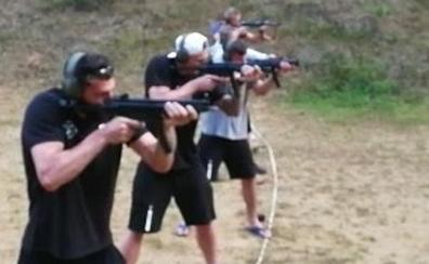 Timma y Shengelia aprovechan para practicar el tiro en vacaciones