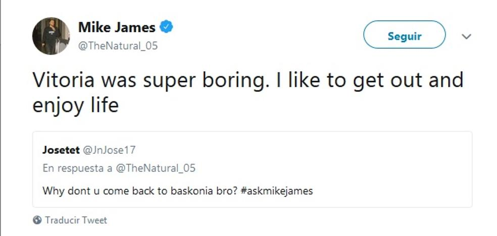 Los reproches de un falso Diop a Mike James enciende las redes baskonistas