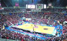 El Buesa Arena acoge desde el lunes su primer acto como capital continental del baloncesto