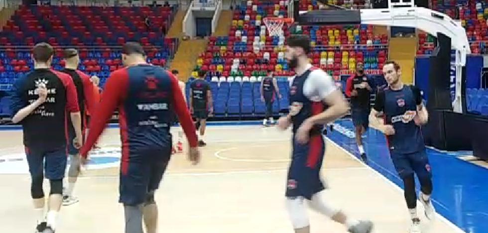 El Baskonia ya entrena en el Megasport Arena de Moscú
