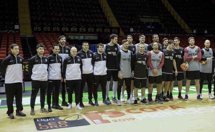 Copa Princesa: las imágenes del entrenamiento del Bilbao Basket en Sevilla