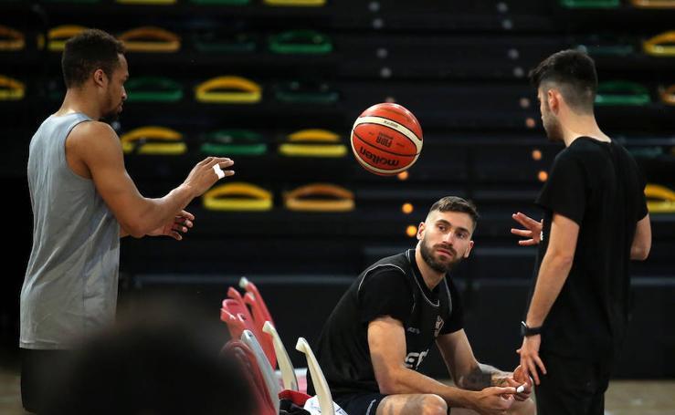 Entrenamiento del Bilbao Basket