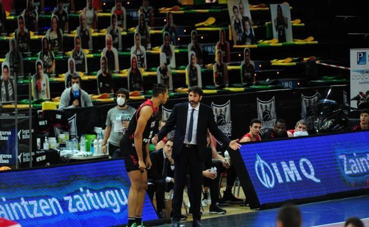 Imágenes del partido entre el RETAbet Bilbao Basket y el Brose Bamberg