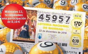 Número de Lotería Nacional de Navidad 2018 de regalo con EL CORREO
