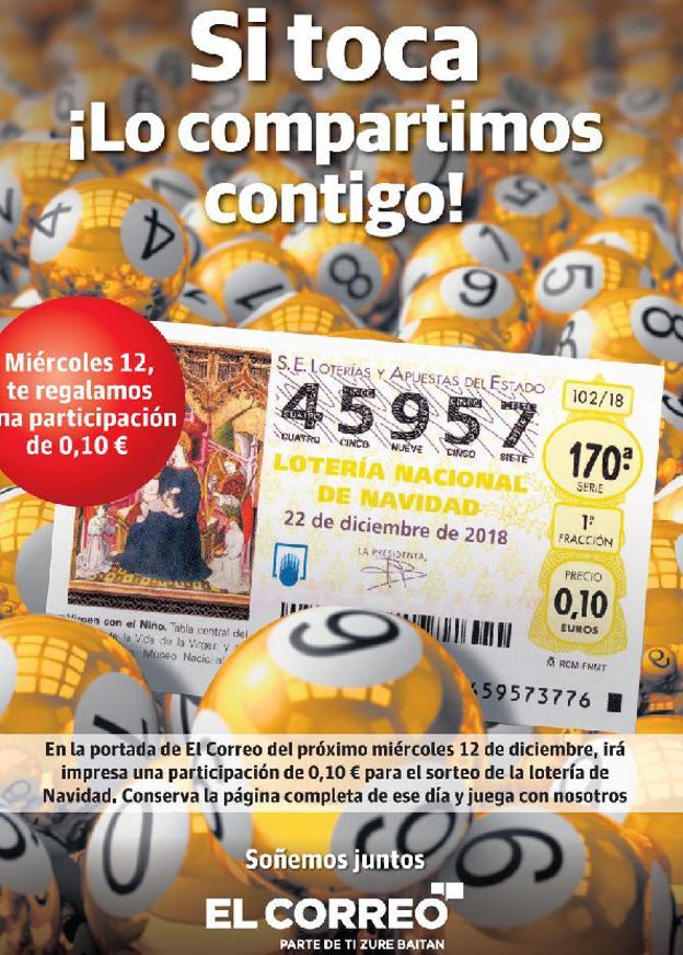 Imagenes Loteria Navidad.Numero De Loteria Nacional De Navidad 2018 De Regalo Con El