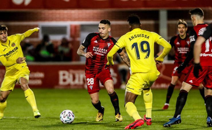 Las mejores imágenes del Mirandés - Villarreal de la Copa del Rey