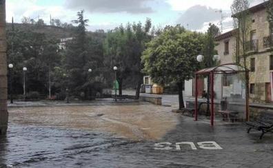 Los técnicos forales empiezan a valorar los daños por los chubascos en Rioja Alavesa