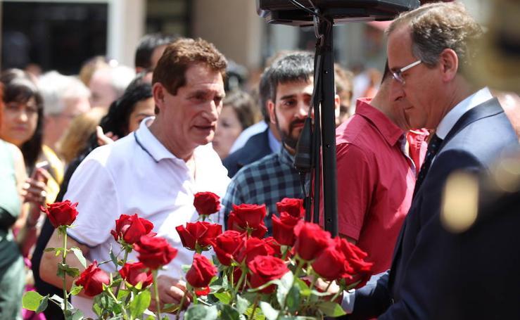 Homenaje a Miguel Ángel Blanco en Ermua