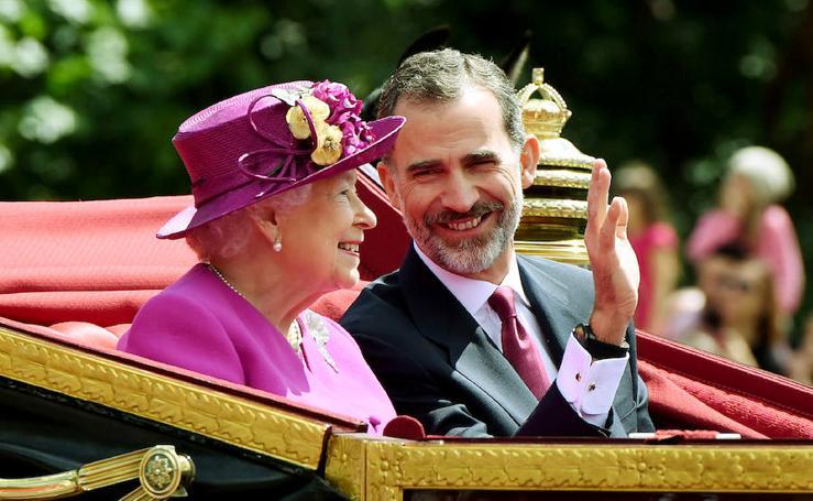 Glamour en la visita de los Reyes a Reino Unido
