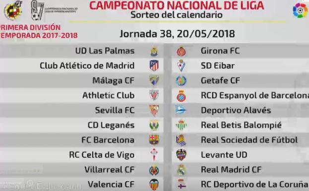 Sorteo Calendario Liga 2020.Liga Santander 2020 19 Calendario