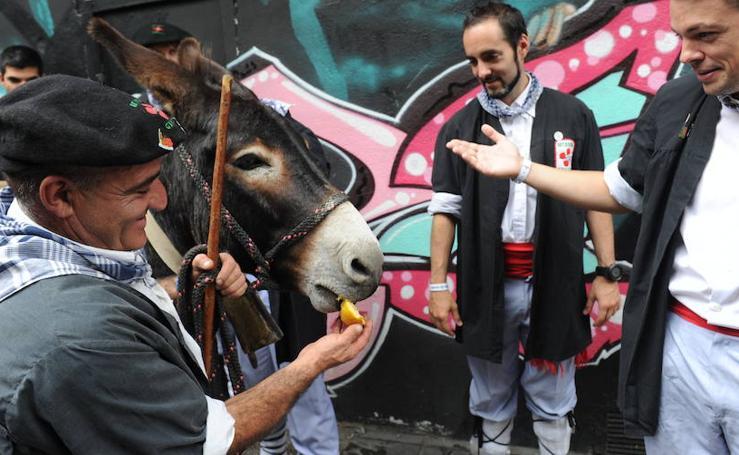 Batasuna pasea su burro por Vitoria