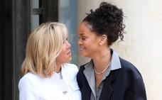 Macron recibe a Rihanna